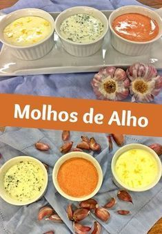 Molho De Alho Recipe Food Pasta And Sauces Menu Brunch, Cooking Recipes, Healthy Recipes, Portuguese Recipes, Chutneys, Mayonnaise, I Foods, Love Food, Dips