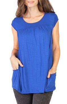 Free shipping and returns on Savi Mom 'The Babydoll' Maternity Nursing Top at Nordstrom.com. Low-slung hip pockets add to the cute, casual feel of a scoop-neck tunic top shaped to accommodate your changing figure with soft gathers under the yoke.