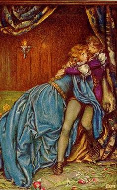 Eleanor Fortescue-Brickdale Idylls of the King by Alfred Lord Tennyson London: Hodder & Stoughton ~ 1913 Illustration for Guinevere It was their last hour, A madness of farewells. King Arthur Legend, Legend Of King, Lancelot And Guinevere, Roi Arthur, Art Ancien, English Artists, Pre Raphaelite, Fantasy Illustration, Antique Prints