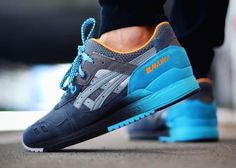 Blue asics #Sneakers #Zapatillas