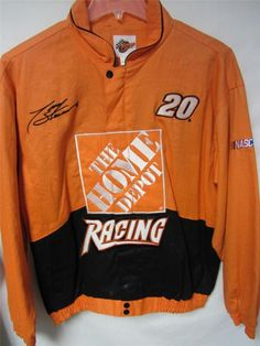 Tony Stewart Mens Large Full Zip #20 Home Depot Racing Jacket  bb 358 1  | eBay