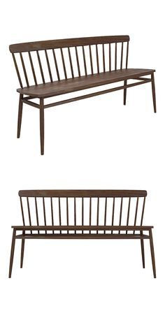 Quality craftsmanship, pure and simple. Forged from solid American black walnut, this stylish bench bypasses frills in favor of a clean, minimalist silhouette with Danish Modern sensibilities. Tapered,... Find the Enkel Walnut Bench, as seen in the The Distillery Collection at http://dotandbo.com/collections/the-distillery?utm_source=pinterest&utm_medium=organic&db_sku=117224