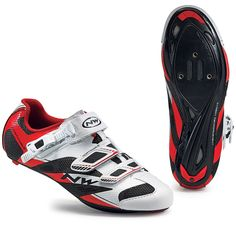 Northwave Sonic 2 SRS Road Cycling Shoes - White-Black-Red Road Cycling Shoes, Performance Cycle, Bike Shoes, Bicycle, Sneakers, Red, Black, Tennis, Bike