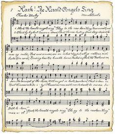 VintageFeedsacks: Free Vintage Clip Art - Christmas Song Sheet and Winter Girls