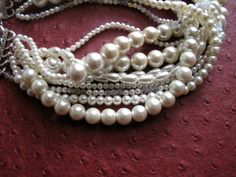 Bold chunky layered pearl necklace... $70.00, via Etsy.  #jewelry