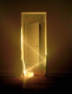 Doorway lit by flashlight - photo by Adam Ekberg