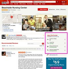 Yelp ads hospital and nursing home scores, as well as city health inspector ratings for restaurants.