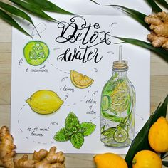 Detox water Healthy Detox, Healthy Eating Tips, Healthy Nutrition, Fruit Detox, Vegetable Drinks, Infused Water, Food Menu, New Recipes, Healthy Lifestyle