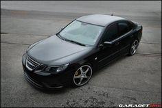 Saab 9-3 black mat.