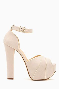 Has there ever been more perfect shoe? Love Dream Platform - Blush