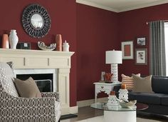 This rich red color will envelope your home in warmth, while adding a modern statement to any room. Pair it with a white or tan to complete the look.
