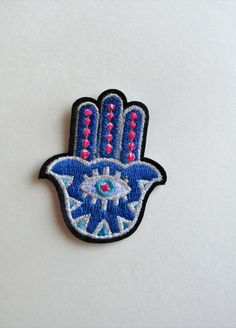 Blue Hand Iron on Patch by TheIrishKnittingRoom on Etsy Make Do And Mend, How To Make, Iron On Patches, Unique Jewelry, Handmade Gifts, Blue, Etsy, Accessories, Vintage