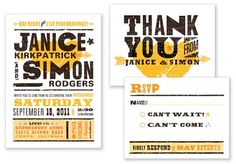 One Night Only invitations by A Printable Press