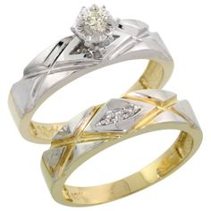 10k Gold 2-Piece Diamond Engagement Ring Set  http://bestdiamondbroker.com/