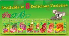8 Naturally Delicious Varieties!  http://www.goodygoodstuff.com/content/varieties