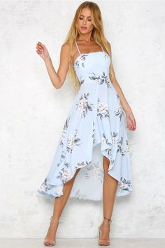 TUT OUTRO Summer Maxi Women Dress Floral Print Long Strapless Empire Party Boho Dresses Vestidos Blue High Qulity Source by Dresses floral Day Dresses, Dress Outfits, Casual Dresses, Fashion Dresses, Cute Outfits, Blue Dress Casual, Women's Summer Dresses, Light Blue Midi Dress, Light Blue Summer Dress