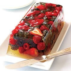 Very Berry Jelly summer dessert.