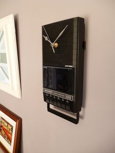 Vintage Cassette Player Wall Clock Unique 1980s Recycled Tape Player Geek Clock £45.00