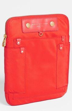 """Marc Jacobs """"Preppy Nylon"""" tablet case. 3 colors but love the orange."""