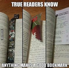 ACTUALLY NO. bookmarks are bad because it means you have to stop reading