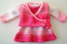 3 to 6 months Baby Dress and Jacket Knitting Pattern, Girl Knitting Pattern for Dress and Jacket, Sleeveless dress and ballerina top