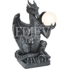 Dragon Orb Table Lamp - CC10913 by Medieval Collectibles