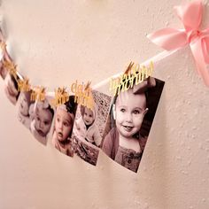 Pink and Gold First Birthday Decorations. Ships in Business Days. First Birthday Garland. Movie Party Decorations, First Birthday Decorations, Birthday Photo Frame, 1st Birthday Photos, Gold First Birthday, Baby 1st Birthday, Picnic Birthday, Turtle Birthday, Photo Garland