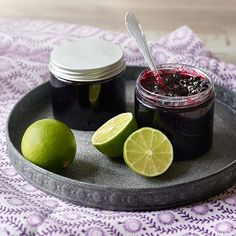 Mustikka-limehillo Lime, Fruit, Desserts, Recipes, Food, Lima, Deserts, The Fruit, Limes