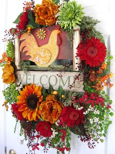 SUNDAY MORNING Country Tuscan Sunflowers 32Inch by funflorals, $130.00