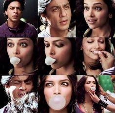 Om Shanti Om - Shahrukh Khan & Deepika Padukone Shraddha Kapoor, Ranbir Kapoor, Priyanka Chopra, Shah Rukh Khan Movies, Shahrukh Khan, Deepika Padukone Style, Om Shanti Om, Blowing Bubbles, Charli Xcx