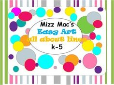 MizzMac's All About Lines-a bundle of art drawing lessons
