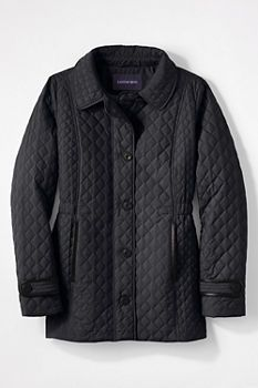 Women's Quilted Primaloft Parka from Lands' End
