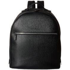 Salvatore Ferragamo New Revival Backpack - 249587 (Black) Backpack... ($1,800) ❤ liked on Polyvore featuring men's fashion, men's bags, men's backpacks and mens leather backpack