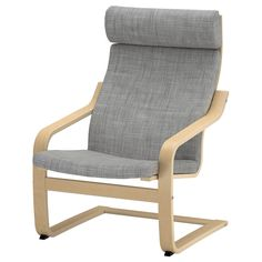 IKEA - POÄNG, Armchair, Isunda grey, birch veneer, , Layer-glued bent birch frame gives comfortable resilience.The high back gives good support for your neck.The cover is easy to keep clean as it is removable and can be dry cleaned.A range of various seat cushions makes it easy to change the look of your POÄNG and your living room.To sit even more comfortably and relaxed, you can use the armchair together with POÄNG footstool.10 year guarantee. Read about the terms in the guarantee brochure.