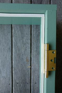 We have been busy building the french doors for our tiny house. In this post, I will explain how to build your own set of french doors. Entrance Doors, Diy Door, Tiny Living, Seals, French Doors, Tiny House, Door Handles, Building, Green