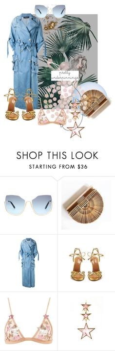 """""""Between the Layers"""" by ella110 ❤ liked on Polyvore featuring Balmain, Aquazzura, storets and prettyunderpinnings"""