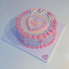 Gorgeous Cakes, Pretty Cakes, Cute Cakes, Pastel Cakes, Pretty Birthday Cakes, Dessert Drinks, Desserts, Food Decoration, Cake Boss