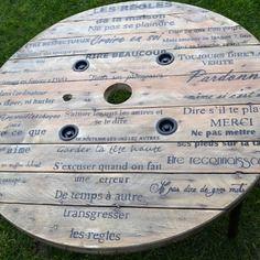 94 images fascinantes de Touret | Bobine de bois, Mobilier recyclé ...