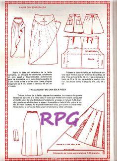 Dress Making Patterns, Skirt Patterns Sewing, Clothing Patterns, Dress Tutorials, Sewing Tutorials, Fashion Sewing, Diy Fashion, Pattern Draping, Patron Vintage