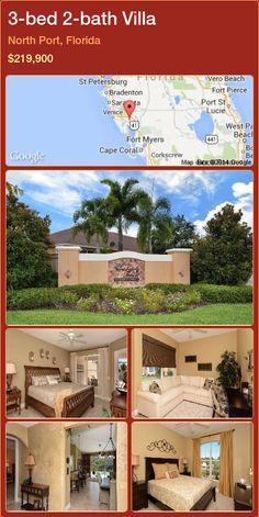 3-bed 2-bath Villa in North Port, Florida ►$219,900 #PropertyForSaleFlorida http://florida-magic.com/properties/43505-villa-for-sale-in-north-port-florida-with-3-bedroom-2-bathroom