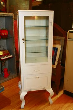 Old dentist cabinet I turned into a china cabinet.   My Creativity ...