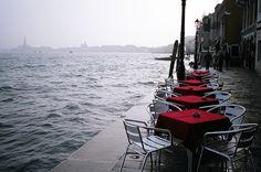 Morning latté in Venice