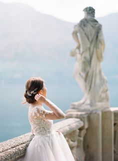 Fine Art Film Wedding Photographers in Lake Como Lake Como Wedding, Beautiful Villas, One Shoulder Wedding Dress, Bloom, Weddings, Wedding Dresses, Fashion, Bridal Dresses, Moda