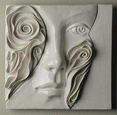 ceramic relief face tiles art - Google Search