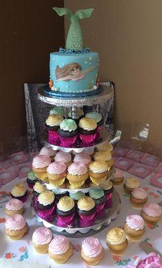Mermaid cake  Bridal Shower   Under the Sea   Gallery   Sugar Divas Cakery   Orlando   Cupcakes   Custom Cakes Www.sugardivascakery.com
