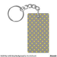 Gold Star with Grey Background Key Chain This design is available on many products! Follow the link and click the 'Available On' tab near the product description! Thanks for looking!  @zazzle #star #abstract #pattern #key #chain #auto #car #automotive #design #color #navy #blue #black #gold #yellow #orange #grey #gray #purple #violet #accessory #men #women #shop #buy #sale #gift #idea