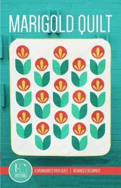"""I dig this fun and simple """"Marigold Quilt"""" from Pen + Paper Patterns."""
