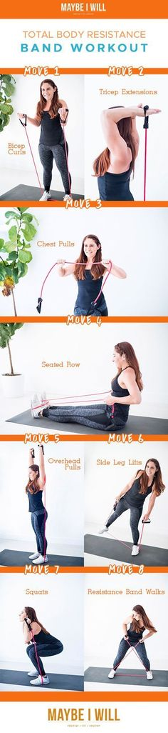 Total Body Resistance Band Workout! - Strength train wherever you may be! With this total body sculpting resistance band workout!