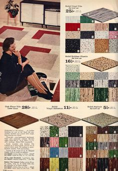 Mid century floor tiles -- from the fall/winter Sears catalog, 1960