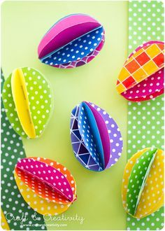 DIY Colorful Paper Eggs for an easter craft- Craft & Creativity